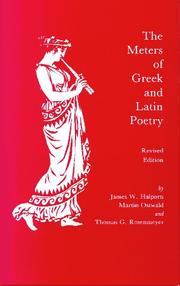 The meters of Greek and Latin poetry by James W. Halporn
