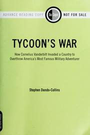 Cover of: Tycoon's war by Stephen Dando-Collins
