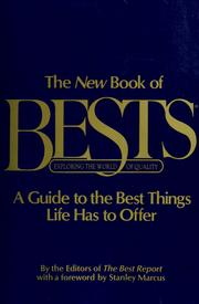 Cover of: The New book of bests by [by the editors of the Best report ; with a foreword by Stanley Marcus.]