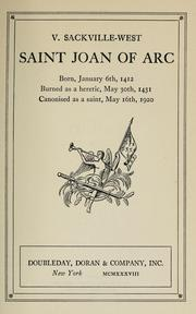 Saint Joan of Arc by Vita Sackville-West