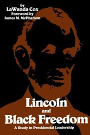 Lincoln and Black freedom by LaWanda C. Fenlason Cox