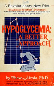 Hypoglycemia by Paavo O. Airola