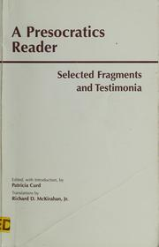 A Presocratics reader by