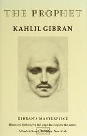 Cover of: The prophet by Kahlil Gibran