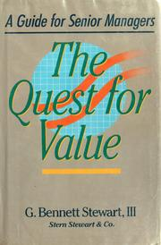 The quest for value by G. Bennett Stewart