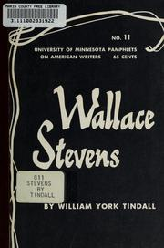 Cover of: Wallace Stevens by William York Tindall