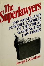 Cover of: The super-lawyers by Joseph C. Goulden