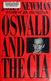 Oswald and the CIA by John M. Newman