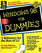 Cover of: Windows 98 for dummies by Andy Rathbone