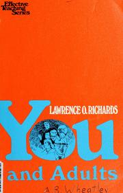 Cover of: You and adults by Larry Richards