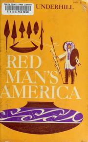 Red Man's America by Underhill, Ruth Murray