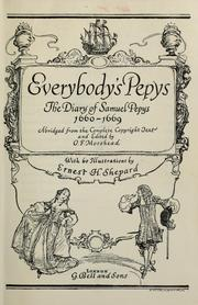 Everybody&#39;s Pepys by Samuel Pepys