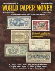 Standard catalog of world paper money by Albert Pick