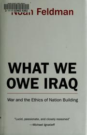 What We Owe Iraq by Noah Feldman