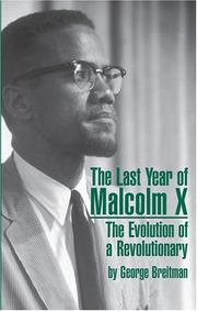 The last year of Malcolm X by George Breitman