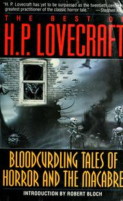Cover of: The best of H.P. Lovecraft by H. P. Lovecraft