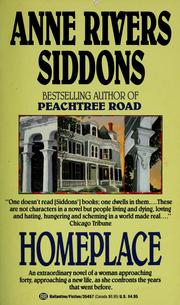 Cover of: Homeplace by Anne Rivers Siddons