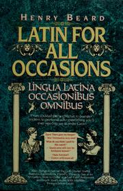 Cover of: Latin for all occasions by Henry Beard