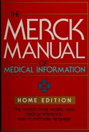 Cover of: The Merck manual of medical information by Robert Berkow, Mark H. Beers, Andrew J. Fletcher