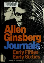 Journals by Allen Ginsberg