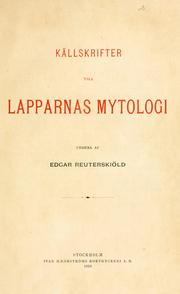 Källskrifter till Lapparnas mytologi.