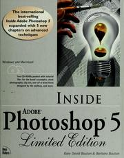 Cover of: Inside Adobe Photoshop 5 by Gary David Bouton