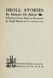Droll Stories by Honor de Balzac