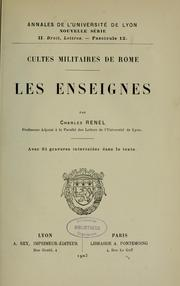Cultes militaires de Rome by Charles Renel
