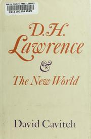 D.H.Lawrence and the New World by David Cavitch