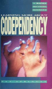Cover of: Codependency by Pat Springle