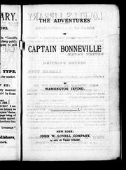 Cover of: The adventures of Captain Bonneville by Washington Irving