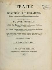 Traité des donations, des testaments by Grenier, Jean baron
