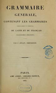Grammaire gnrale by Pierre Abraham Jnain