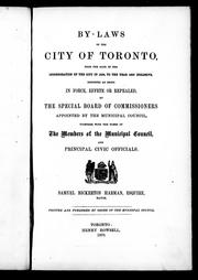 By-laws of the city of Toronto by Toronto (Ont.)