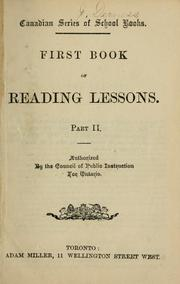 First Book of Reading Lessons. Part II by