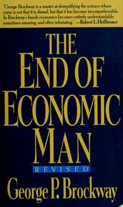 Cover of: The end of economic man by George P. Brockway