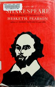 A life of Shakespeare by Pearson, Hesketh