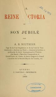 La reine Victoria et son jubil by Routhier, A. B. Sir