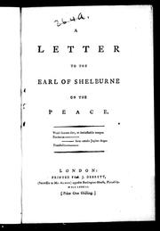 A letter to the Earl of Shelburne on the peace by Portius