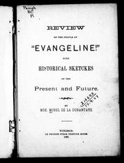 "Review of the people of ""Evangeline!"" by Mde Morel de la Durantaye"