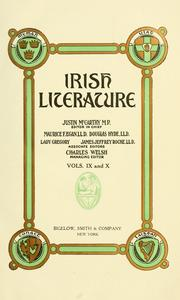 Irish literature by McCarthy, Justin