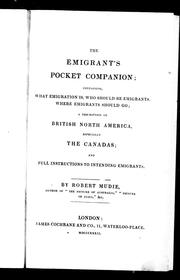 Cover of: The emigrant's pocket companion by Robert Mudie