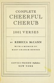 Cover of: Complete cheerful cherub by Rebecca McCann