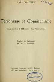 Terrorisme et communisme by Karl Kautsky