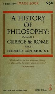 A history of philosophy by Frederick Charles Copleston