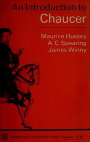 An introduction to Chaucer by Maurice Hussey