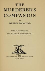 Cover of: The murderer's companion | Roughead, William