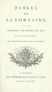Cover of: Fables de La Fontaine by Jean de La Fontaine
