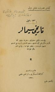 Cover of: Tārīhī sīmālar by Ahmet Refik