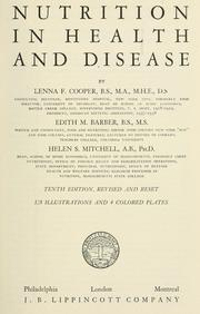 Nutrition in health and disease by Lenna F. Cooper